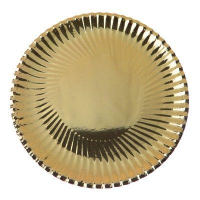 Vous êtes à la recherche d'une déco de table tendance ?   Les assiettes métallisées dorées seront parfaites pour apporter un coté chic à votre ambiance !   Il s'agit de la vaisselle jetable idéale pour un dîner chic, un apéro dînatoire, un mariage, un baptême....