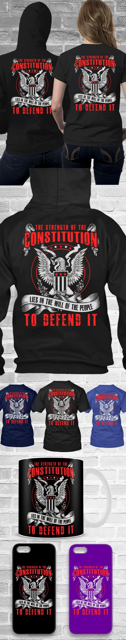 The Strength Of The Constitution! Click The Image To Buy It Now or Tag Someone You Want To Buy This For.  #secondamendment