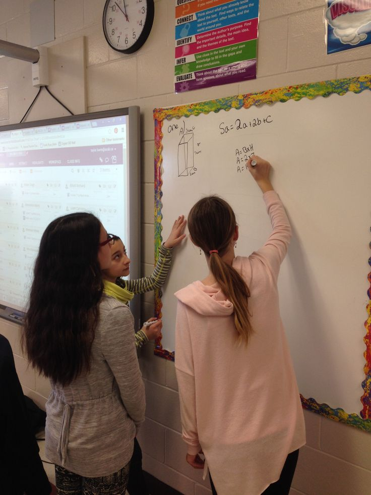 Grade 7 math students participating in the 360 classroom