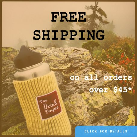 FREE SHIPPING on orders over $45*  www.drinktoque.com