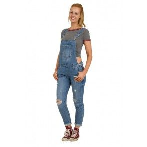 Womens Dungarees - Distressed Denim #overalls for women