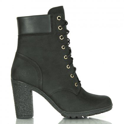Timberland Glancy Black Leather Ankle Boot