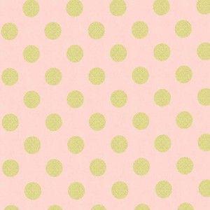 Michael Miller House Designer - Glitz - Quarter Dot Pearlized in Blush