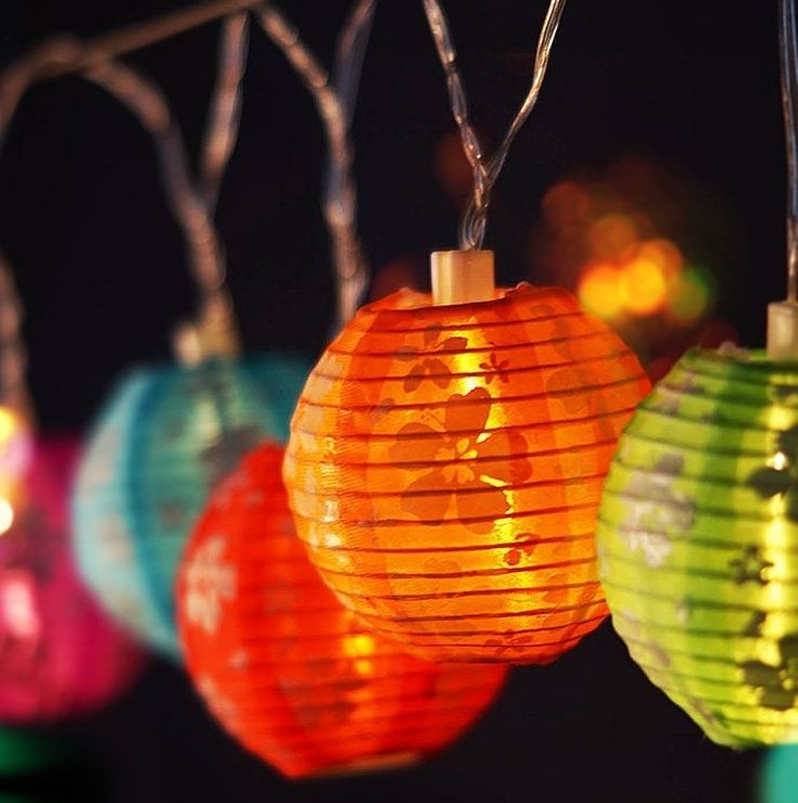 Multicolor Nylon Lantern String Lights