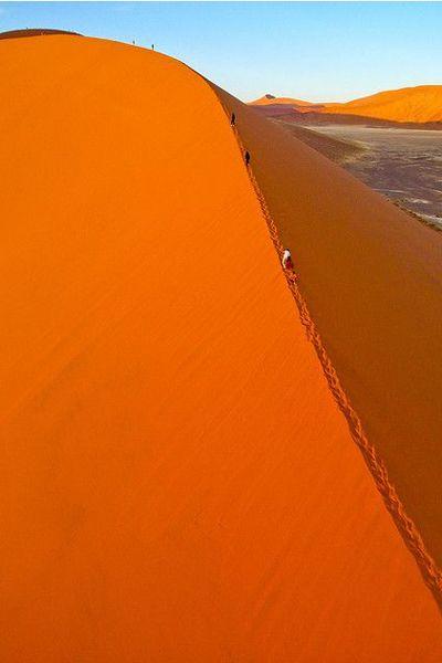 ナミブ砂漠(Namib Desert)/ナミビア共和国 砂漠というのは砂の集合体であるから風などの気候からの影響を非常に受けやすいゆえに自然が生む数学的規律を忠実に再現しているのだろうと考えた。