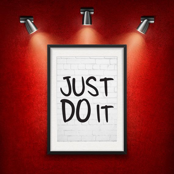 Just Do It Inspirational Quote DIGITAL от MotivationalThoughts