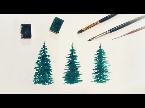 (39) How To Make Watercolor Trees For Beginners - YouTube i think the first one is my favorite, and probably the easiest!