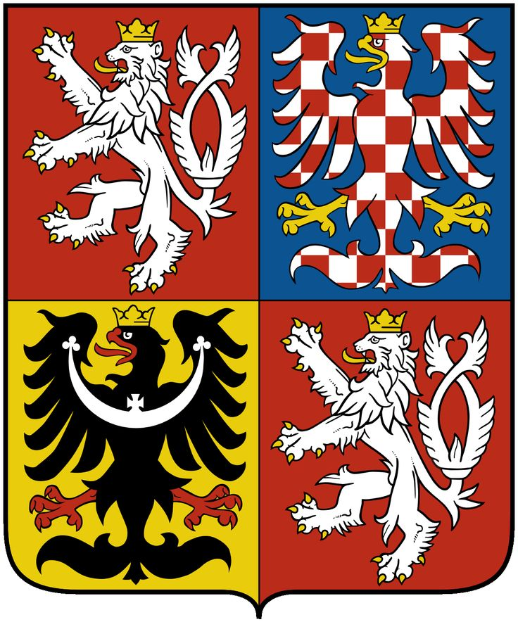 White lions, this are Czech, black eagle Silesia and the White-red , this is Moravia, three parts of the Czech Republic.