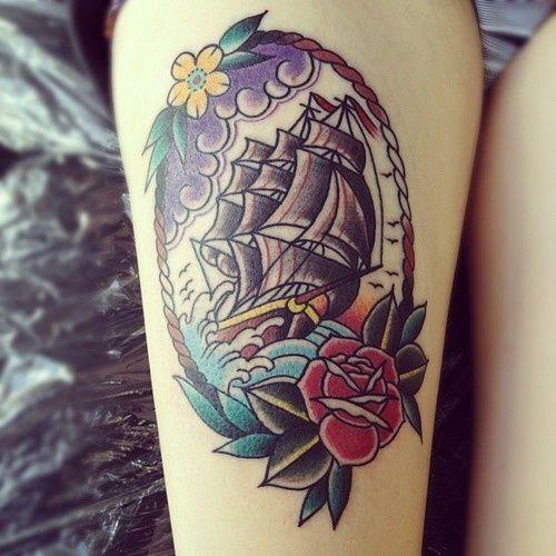 Tattoo Ideas Classic Ships Piercing Ideas Tattoo: 1000+ Ideas About Traditional Ship Tattoo On Pinterest