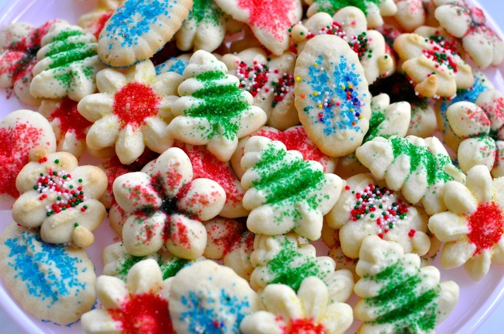 Spritz Cookies | Recipe | Spritz cookies, Cookie press and ...