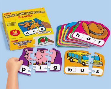 Word Building Puzzles. Good for final consonant deletion with little ones