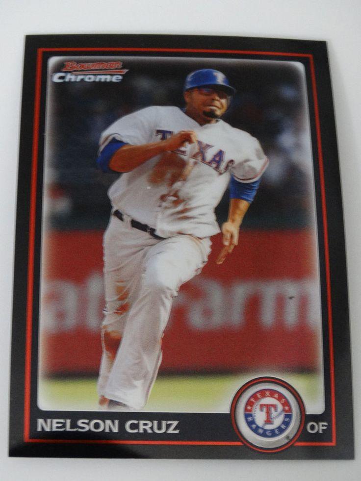 2010 Bowman Chrome #77 Nelson Cruz Texas Rangers Baseball Card #BowmanChrome #TexasRangers
