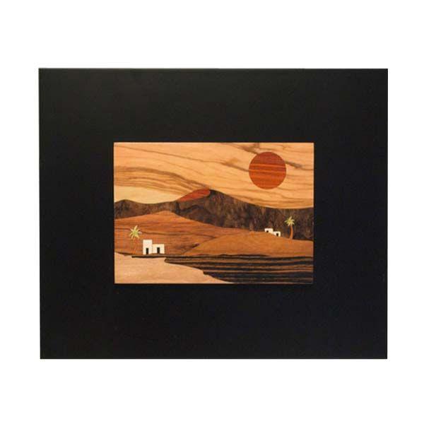 Cuadro de marqueteria-Lanzarote. Cuadro en  madera.Tecnica,marqueteria.Realizado con diferentes tipos de madera.Aprovechando para su composicion los diferentes colores y texturas.Acabado con barniz
