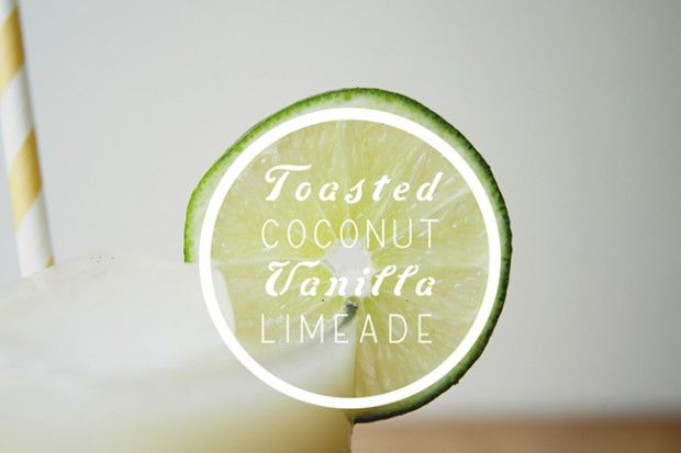COCONUT ICE + TOASTED COCONUT VANILLA LIMEADE - The Kitchy Kitchen