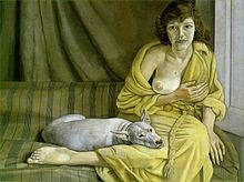 great figurative artist Lucian Freud also painted landscapes to take a break, just like I do.