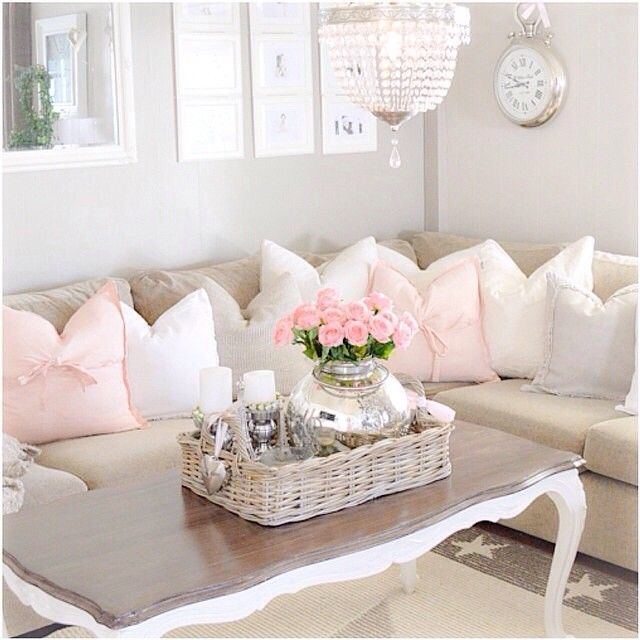 Love the soft colors! Would be the perfect girly living room and lounge area