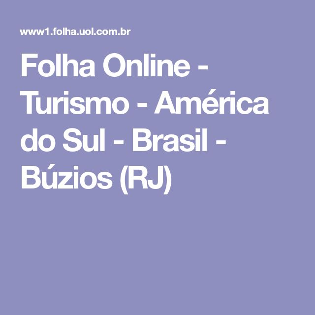 Folha Online - Turismo - América do Sul - Brasil - Búzios (RJ)