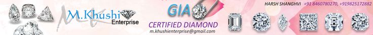 We have large collection of GIA certified Diamonds with very Reasonable Price. I am sending list of my collection. It you have  any Interest Then Please contact Me in following Number.we are Coming From Diamond City- Surat.If your order is over 15000$ then you will get 5% discount on your amount.  #Khushi Enterprise coupon codes#latest deals#promo code@a2zoffer.com
