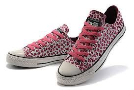 New Converse All Star Seasonal W chaussures Pink Leopard Print Low Top Canvas