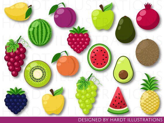 Fruit Clipart Fruits Clipart Fruits Clip Art Tutti Frutti
