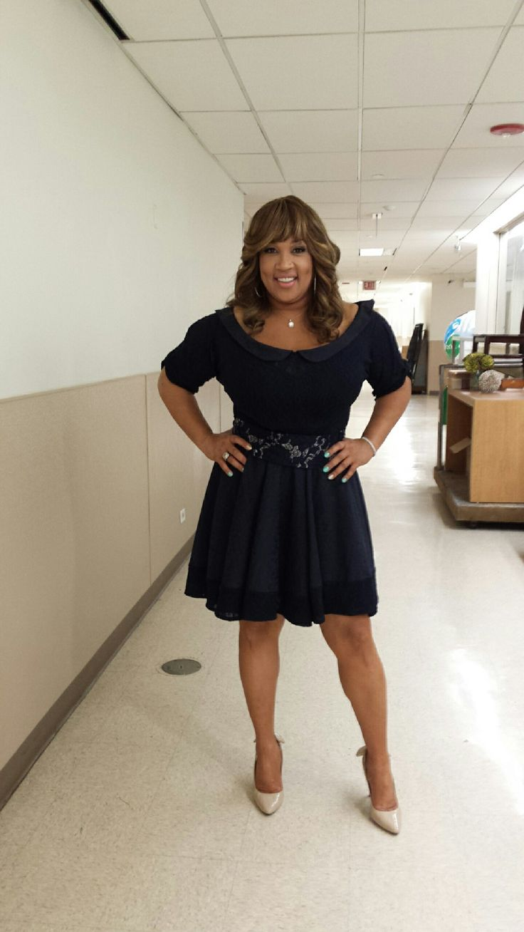 Kym Whitley wearing Nathanaelle Couture! About to go on Steve Harvey. www.nathanaelle.com