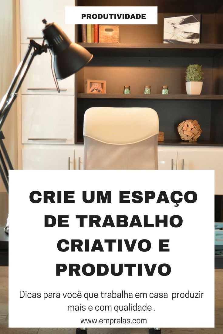 Trabalhar em casa deve ser algo prazeroso e um ambiente bem projetado, ainda que simples, faz toda a diferença. http://emprelas.com/criando-um-espaco-de-trabalho-criativo-e-produtivo/ #homeoffice #trabalharemcasa #trabalharpelainternet #criatividade #produtividade