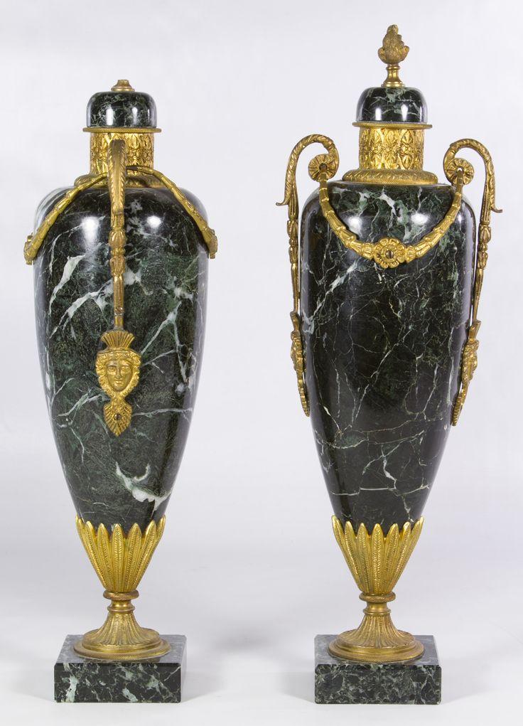 Lot 690: Marble Garniture Set; 20th Century, each …