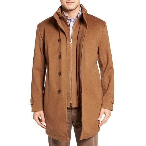 Men's Peter Millar 'Old Sebastian' Wool Overcoat (20,280 MXN) ❤ liked on Polyvore featuring men's fashion, men's clothing, men's outerwear, men's coats, vicuna, mens wool overcoat, mens wool coat, mens overcoat and mens coats