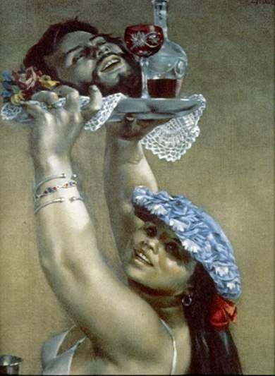 """Enrique Grau- """"El triunfo de Salomé"""". 1977"""