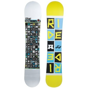Ride Snowboards Antic Snowboard in White/Blue/Yellow