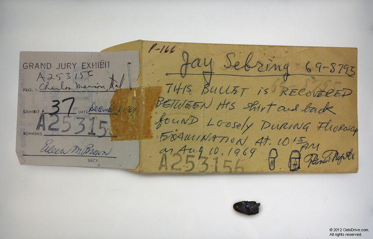 Sebring Bullet | Charles Manson Family and Sharon Tate-Labianca Murders | Cielodrive.com