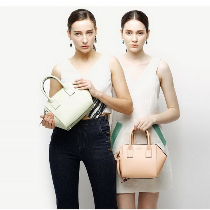 ----- BEST SELLERS! ----- Jessie and Jane Montreal Series women's leather handbag / Shoulder bag removable strap.  Mobile phone pocket and card pocket.  Available in Grey/Black, light green, peach color.  GET 10% OFF AND FREE SHIPPING NOW!  https://jessiejaneaustralia.com.au/handbags/8-montreal-series-women-s-leather-handbag.html