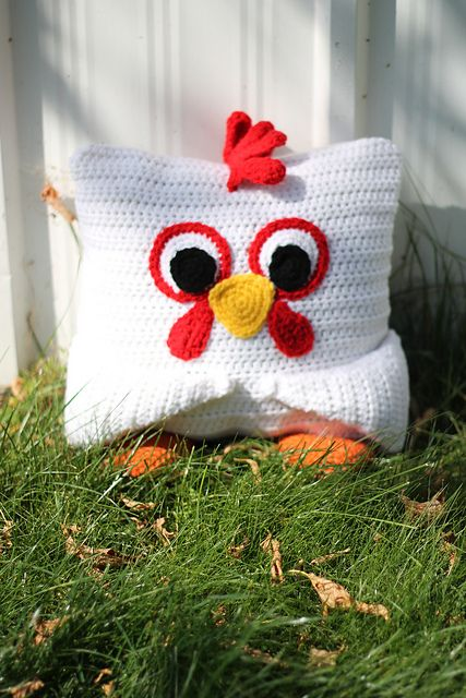 Little Pillow Pals - 8 of 12 - Chicken - $3.00 by Julie Lapalme
