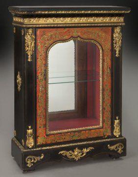 Napoleon III Style Ebonized Boulle Side