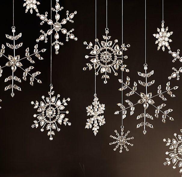 Victorian Glass Snowflake - Flower