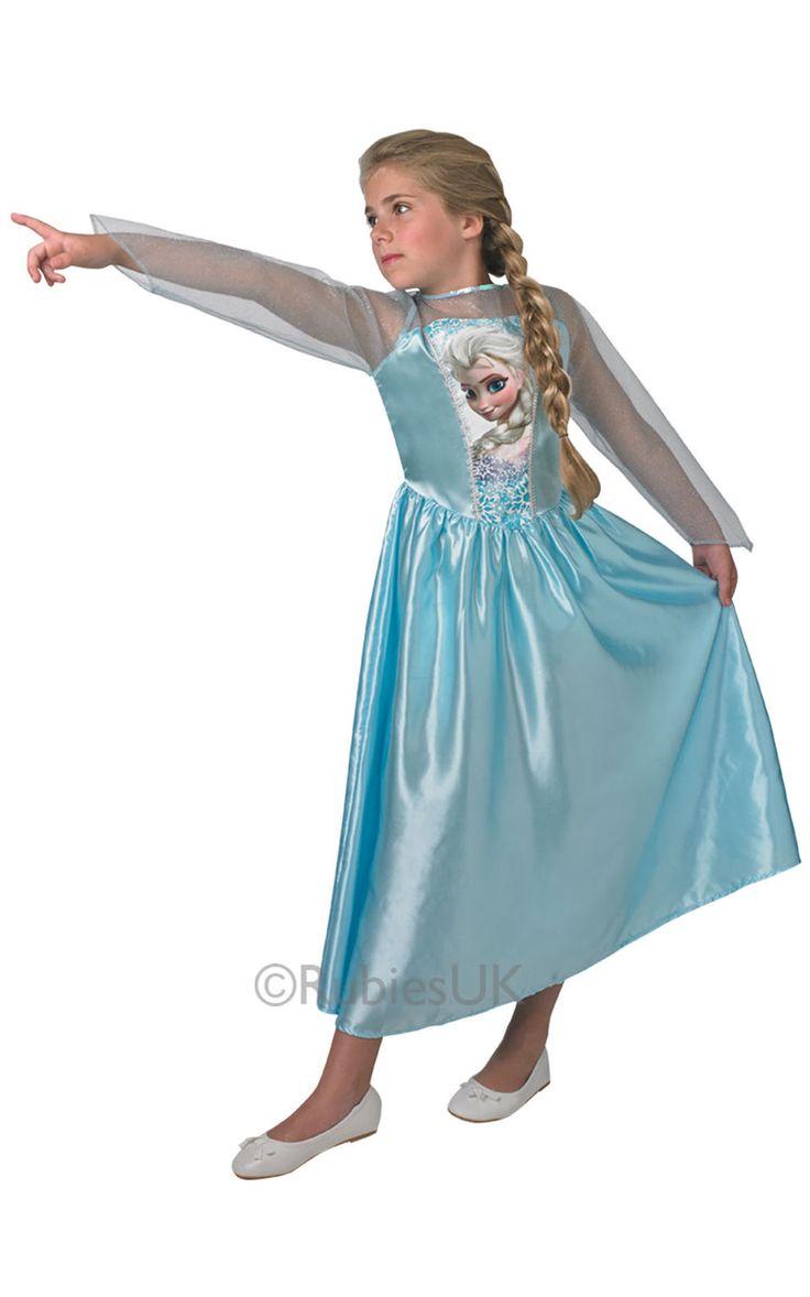 Frozen prinsessa Elsa. Tuote on lisensioitu Disney Frozen- naamiaisasu.