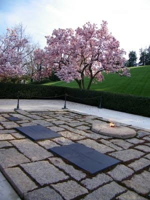 JFK's grave: Travel