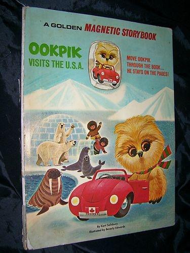 Ookpik Visits the USA Kent Salisbury Golden Magnetic Storybook HB 1968 RARE Book
