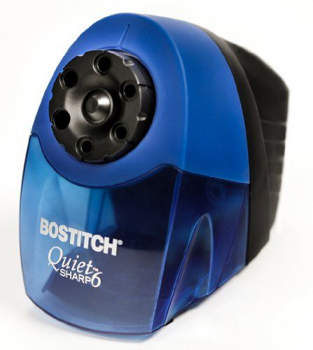$30.26 Bostitch QuietSharp  6 Classroom Electric Pencil Sharpener, 6-Holes - http://freebiefresh.com/bostitch-quietsharp-6-classroom-electric-review/