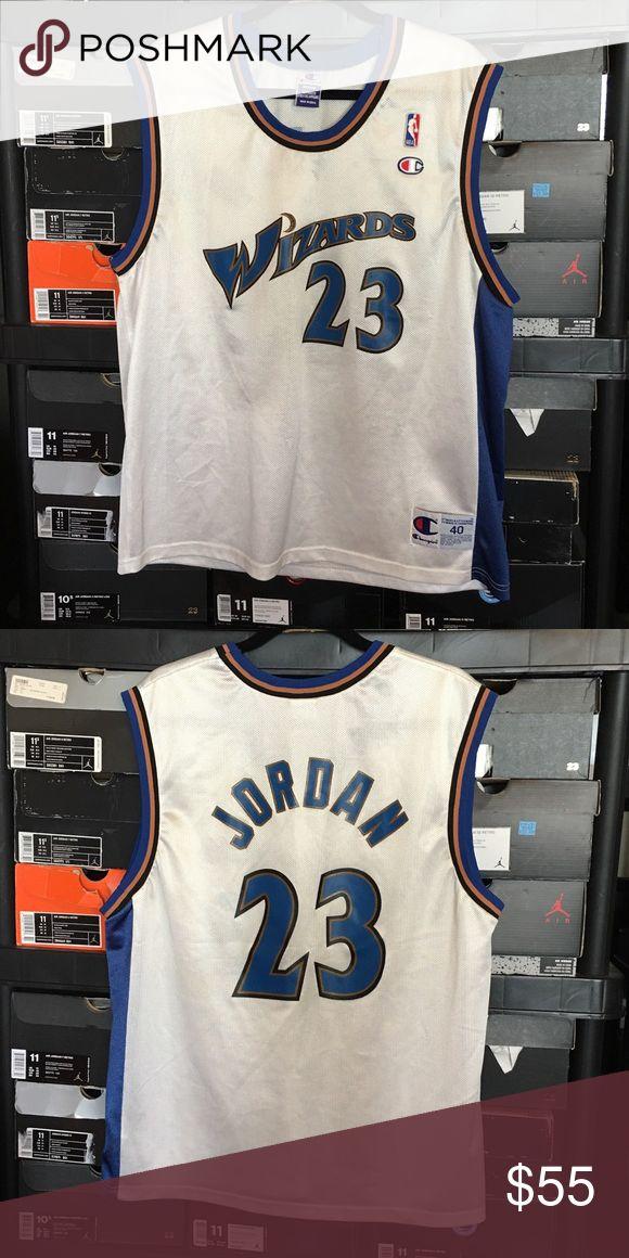 Vintage Champion Washington Wizards Jordan Jersey Vintage Champion Washington Wizards Michael Jordan Jersey. Men's size Medium 40. Great condition. No rips or tears. Champion Shirts Tank Tops