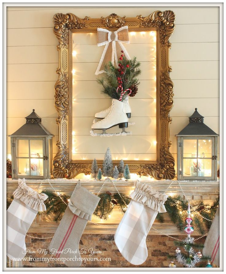 Christmas Mantel 2014 & Blog Hop