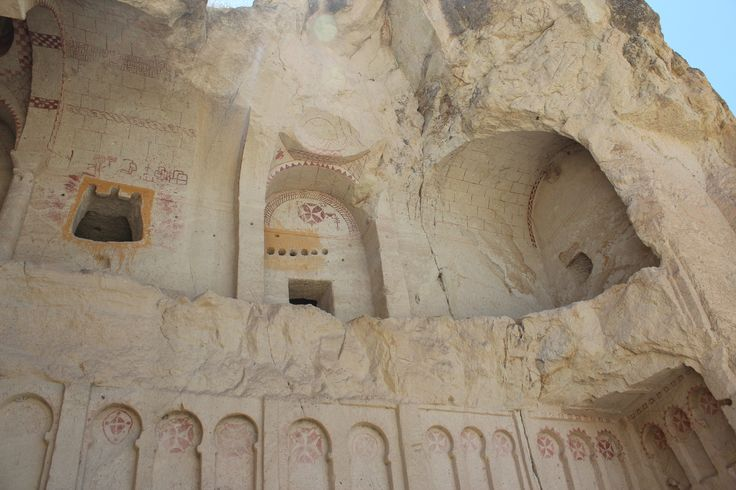 One of the Cave Churches in the Goreme Open Air Museum in Cappadocia, Turkey.  Christians lived and worshiped here through the 13th century.