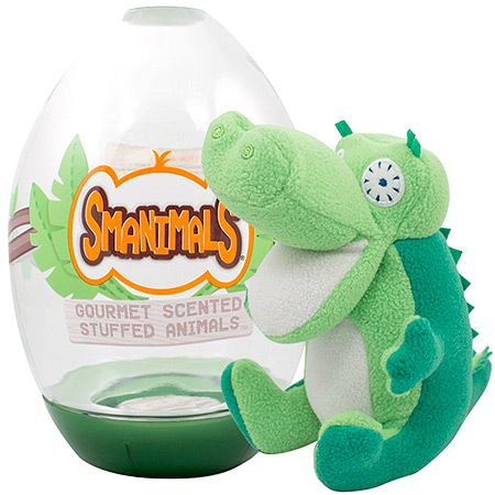 """#PlayOfTheDay - A pickle-scented crocodile? You betcha! He's a """"crocodill""""! Pucker up and play with Pickle. There's nothing funnier or funner for an imaginative play buddy! (Smanimal donates to animal habitat conservation charities for each purchase.)"""