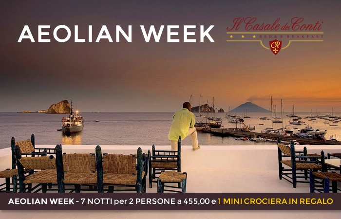 "OFFER ""AEOLIAN WEEK""  7 nights for 2 PEOPLE to 455,00 and 1 MINI CRUISE GIFT"