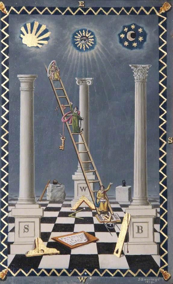 Freemasonry:   In #Freemasonry, the chessboard has esoteric symbolism.