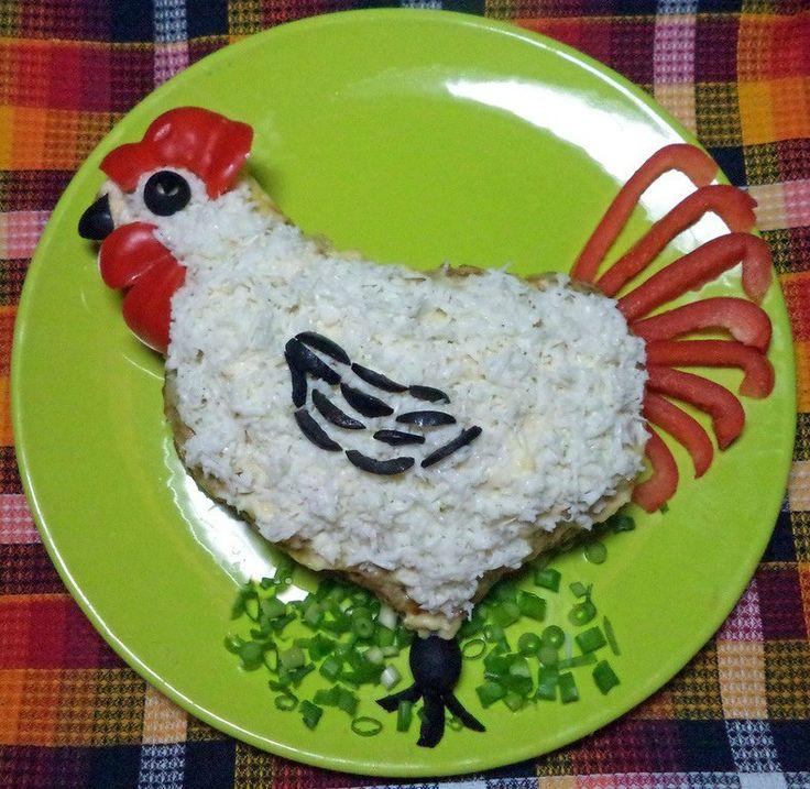 Новогодний Петух из фарша (мясная запеканка) » Женский Мир