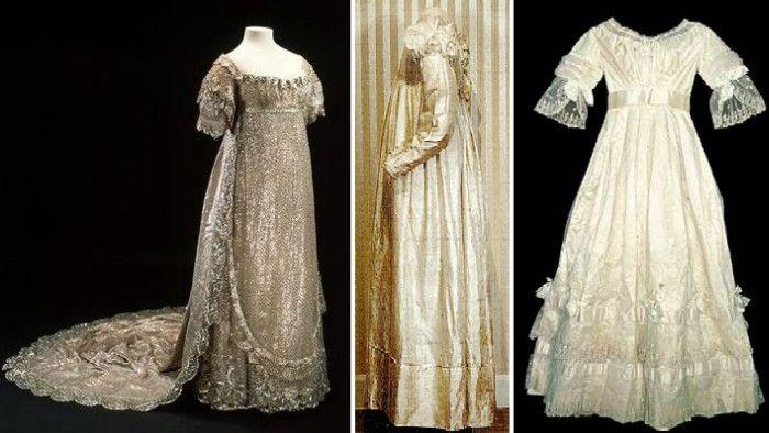 Но и когда мода снова начала усложняться, в 1820-ых годах, белые свадебные платья становятся всё более распространёнными.