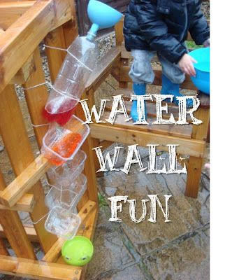 Easy Waterfall from old plastic bottles