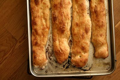 No-Work, No-Knead Method -If you want to keep the baguettes ...