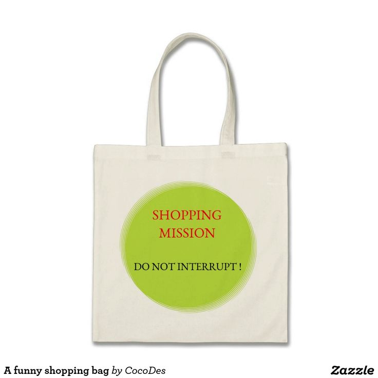 A funny shopping bag